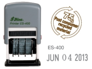 "ES400 Self-Inking<BR>Date Stamp<BR>5/32"" High Characters"