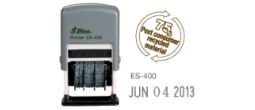 "ES-400 - ES400 Self-Inking<BR>Date Stamp<BR>5/32"" High Characters"