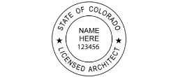 Rubber Stamp, Rubber, round, Seal, LA Seal, Licensed Architect, Architect