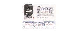 Shiny 826 Self-Inking Dater, Choose between Received, Paid, Faxed or Entered. Red and Blue pad included.