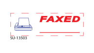 "SU-13503 - ""FAXED""<BR>Message Stamp"