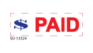 "SU-13524 - ""PAID""<BR>Message Stamp"