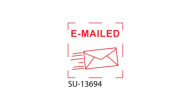 "SU-13694 - ""E-MAILED""<BR>Small Stock Stamp"