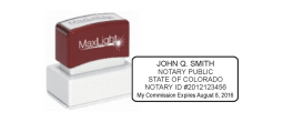 MaxLight, 125, Pre-Inked, Preinked, XL2-125, Colorado Notary, New Notary, New Colorado Notary, Colorado Seal